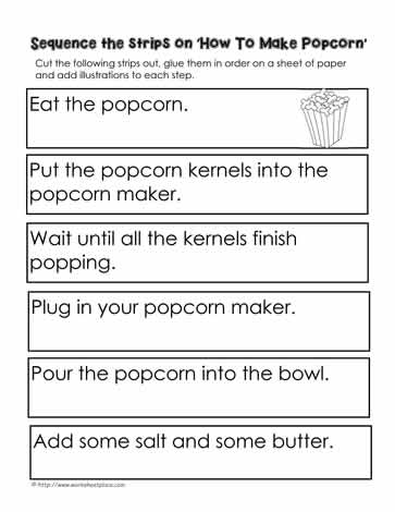 Procedure-How-To-Make-PopcornWorksheets