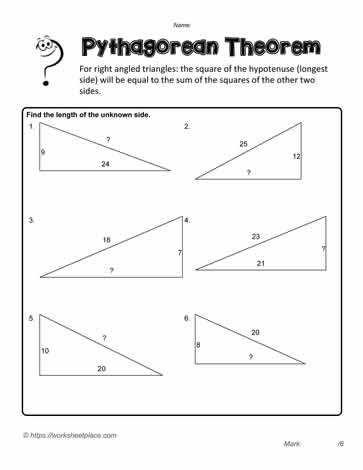 Pythagorean Exercises