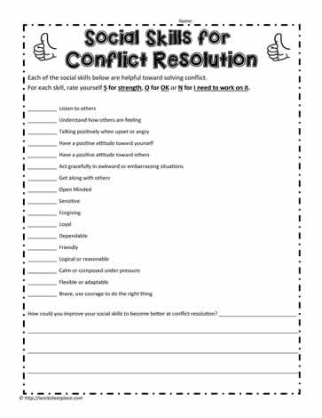 Social Skills for Conflict