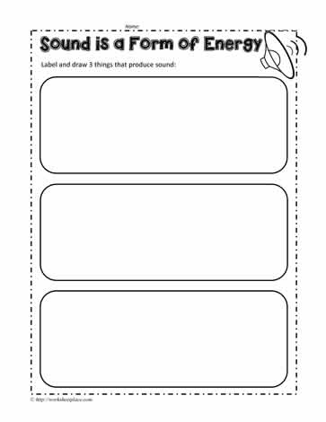 Sound Energy Worksheet Worksheets