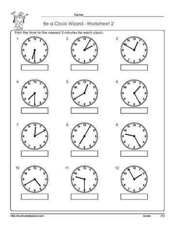 Worksheet -2-Telling-Time Worksheets