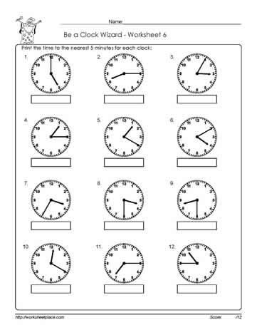 Worksheet -6-Telling-Time