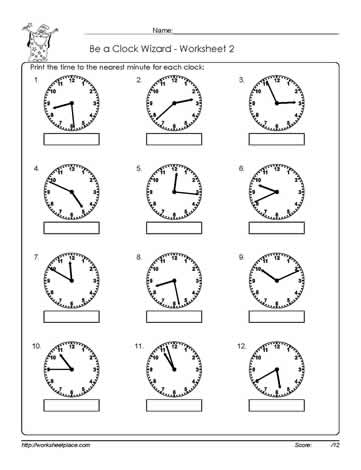 Telling-Time-Worksheet-2Worksheets