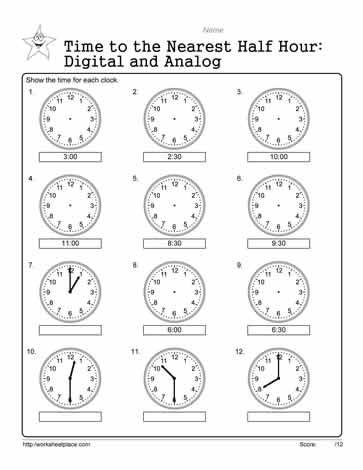 Analog And Digital Worksheets