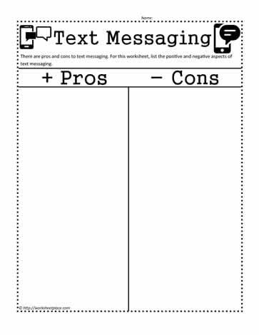 Pros and Cons of Texting