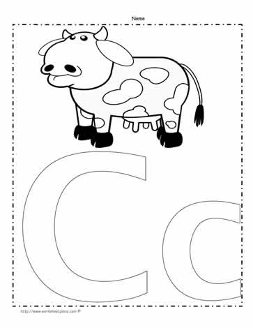 The Letter C Coloring Page Worksheets