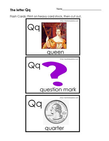 The Letter Q Flashcards