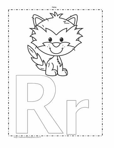 The Letter R Coloring Page Worksheets