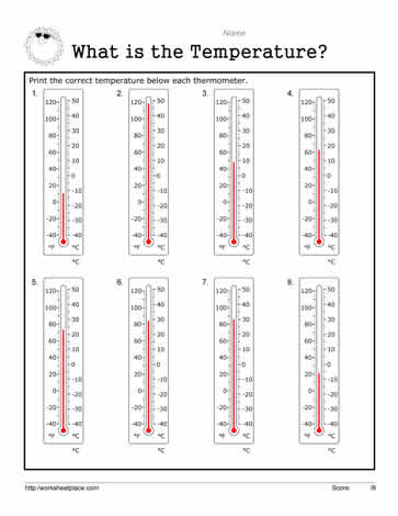 Celsius Worksheet