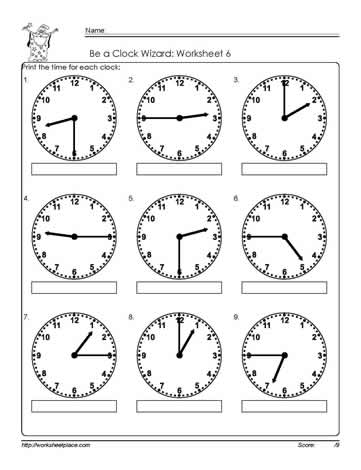 Worksheets For Time Telling | Search Results | Calendar 2015