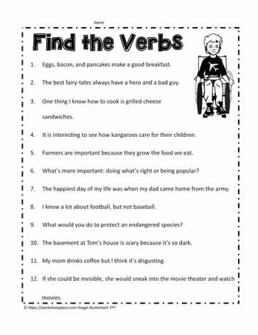 Verb Worksheet