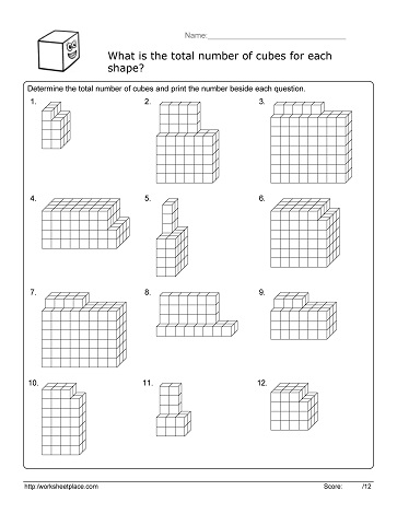 Volume Cube Worksheet