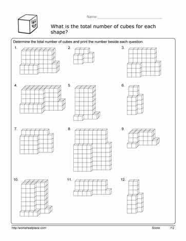 Worksheets Volume Cubes Worksheet volume cube worksheetworksheets worksheet