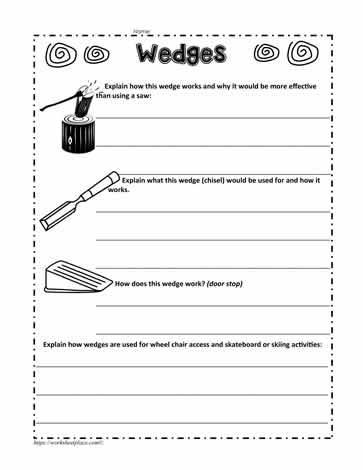 Wedge Worksheet Worksheets