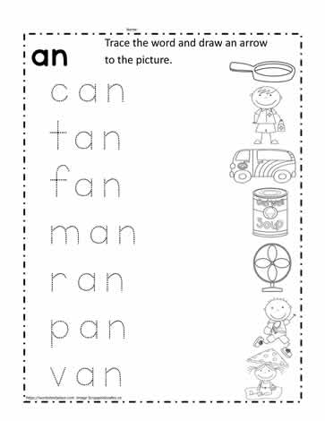 an Word Family Worksheet