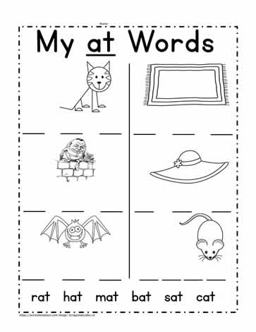 at Word Family Worksheet Worksheets