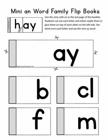 ay Flip Book Activity