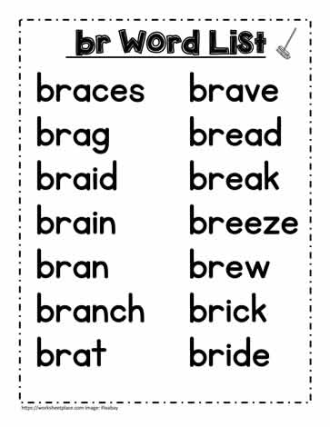A br Spelling List