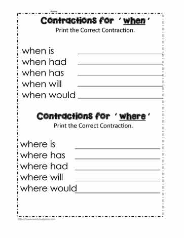 The When and Where Contractions