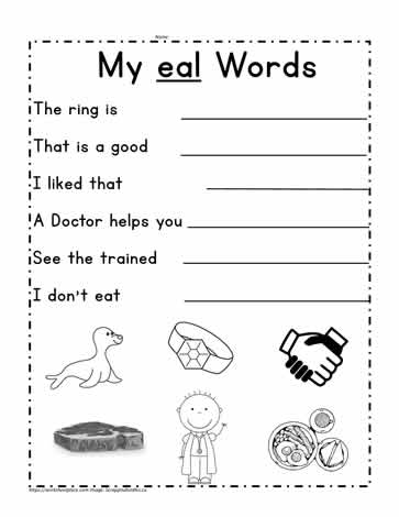 eal Word Sentences
