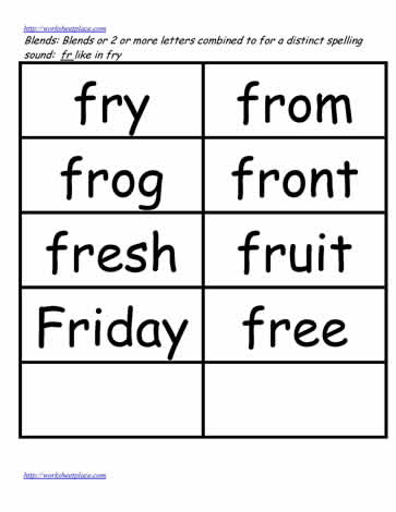 Fr word study lists, fry, from, etc.