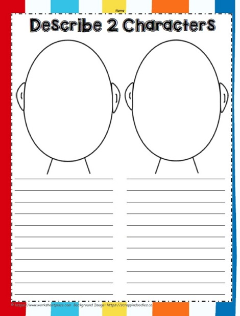 Draw 2 Story Characters and Compare Them