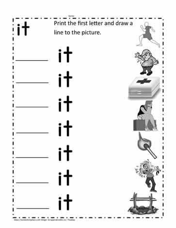 it Word Family Worksheet Worksheets