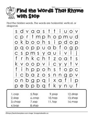 op Word Search