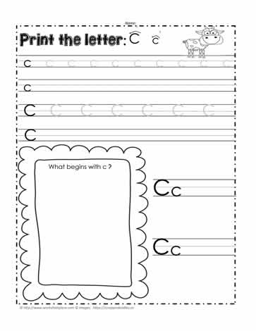 The Letter Cc Worksheets