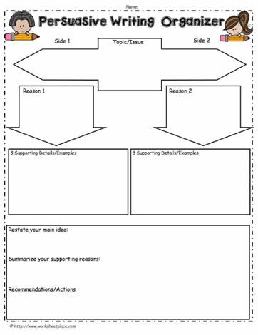thesis statement graphic organizer middle school