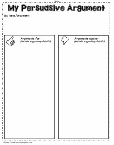 For and Against Worksheet