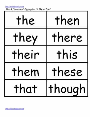 Th word study lists, the, then, this etc. Worksheets