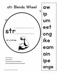 3 Letter Blend Wheel Activity