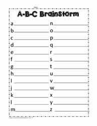 ABC Brainstorm