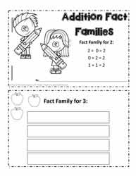 Adding Fact Family Booklet