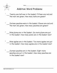 Addition Word Problems to 20-2