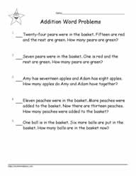 Addition Word Problems to 20-3