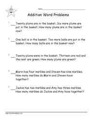 Addition Word Problems to 20-5
