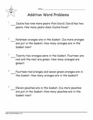 Addition Word Problems to 20-8