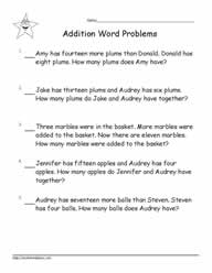 Addition Word Problems to 20-9