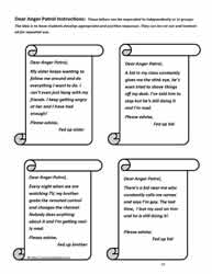 Writing Activity for Anger