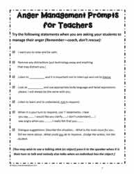Teacher Prompts for Anger Management