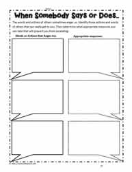 Worksheet for Anger