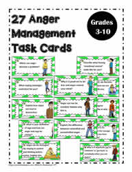 Anger Management Task Cards