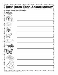 Animal ClassificationWorksheets