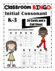 BINGO for Initial Consonants