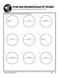 Area and Circumference of Circles cm