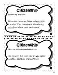 Citizenship Task Cards