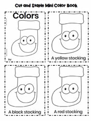 Color Words Stocking Book
