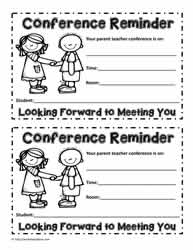 Parent Teacher InterviewWorksheets